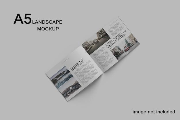 Maquete de catálogo de paisagem a5 premium