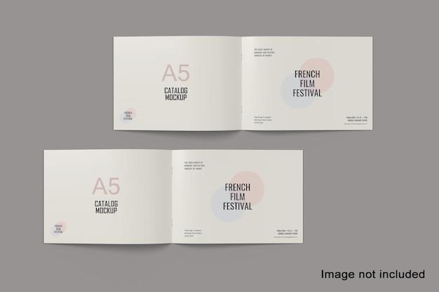 Maquete de catálogo de paisagem a5