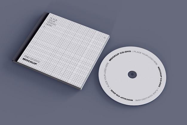Maquete de cd e estojo