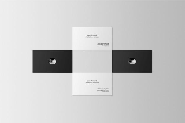 Maquete de cena de conjunto de cartão de visita