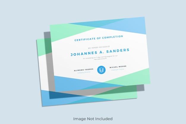 Maquete de certificado elegante