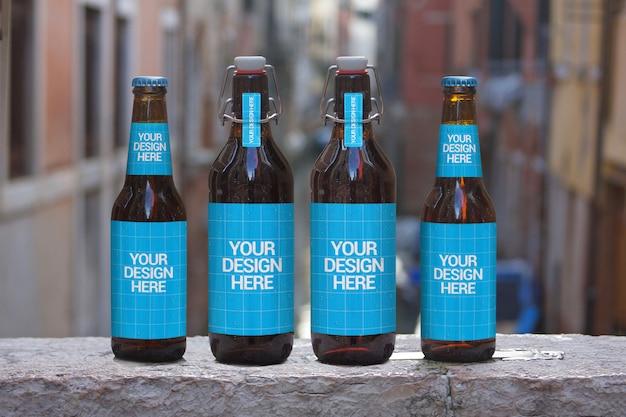 Maquete de cerveja 4 em 1