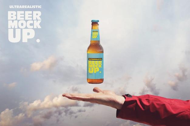 Maquete de cerveja celestial