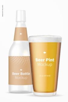 Maquete de cerveja de 16 onças