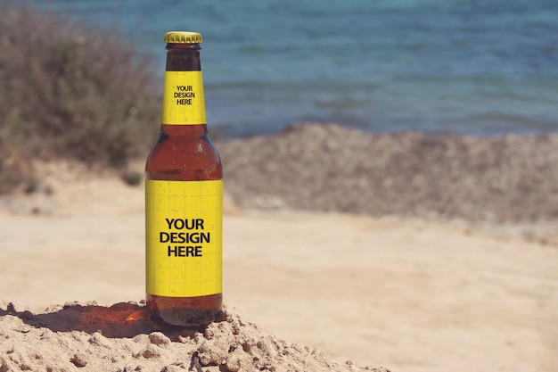 Maquete de cerveja de caminhada costeira