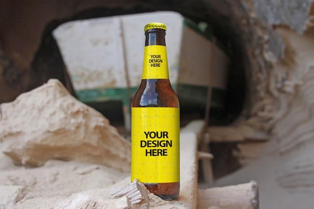 Maquete de cerveja de caverna de barco