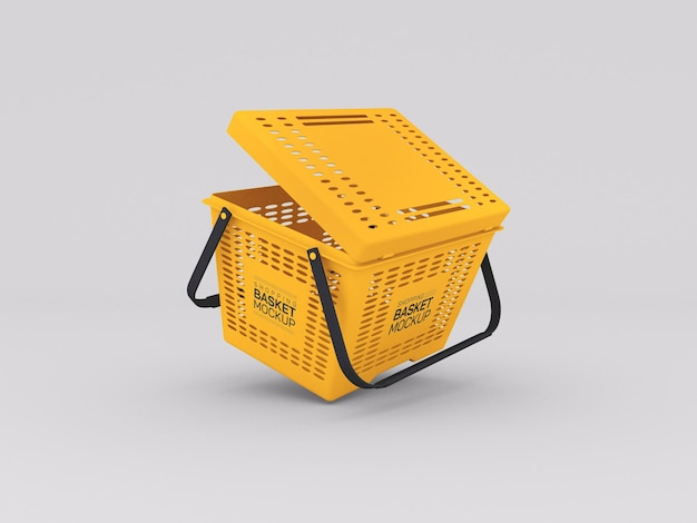 Maquete de cesta de compras