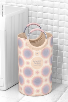Maquete de cesto de roupa suja