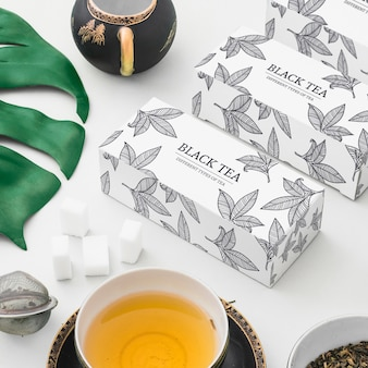Maquete de chá isométrica