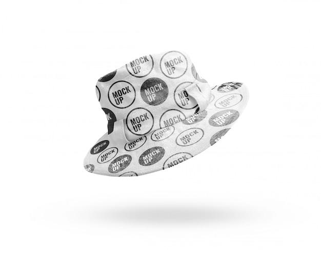 Maquete de chapéu branco realista