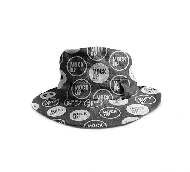 Maquete de chapéu de balde