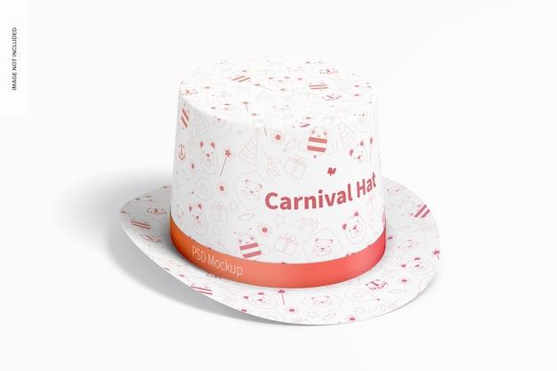 Maquete de chapéu de carnaval, perspectiva