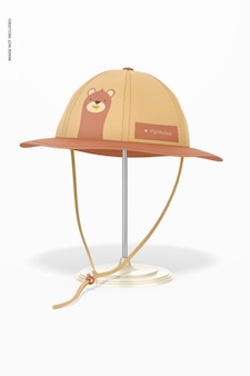 Maquete de chapéu de sol infantil, vista frontal