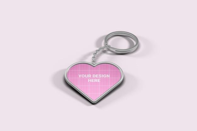 Maquete de chaveiro em formato de coração