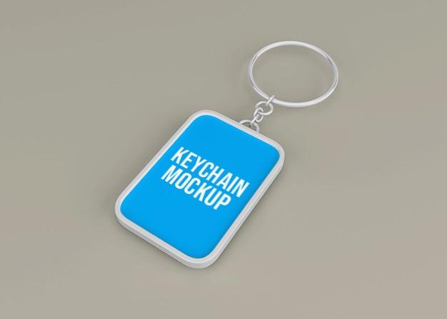 Maquete de chaveiro metálico para acessório de chave