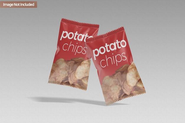 Maquete de chip de lanche