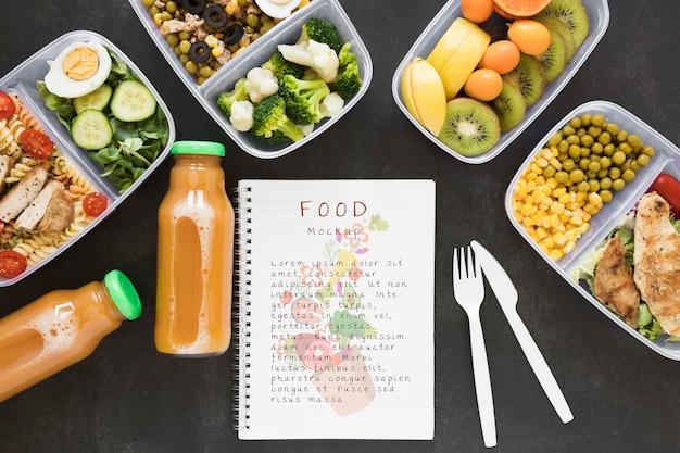 Maquete de comida saudável deliciosa