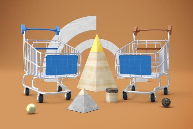 Maquete de compra abstrata