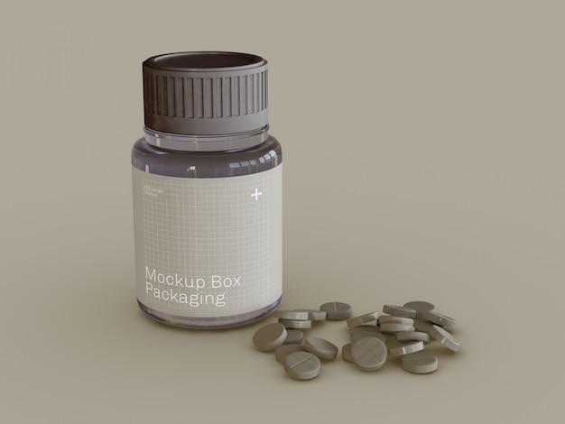 Maquete de comprimidos de medicamento