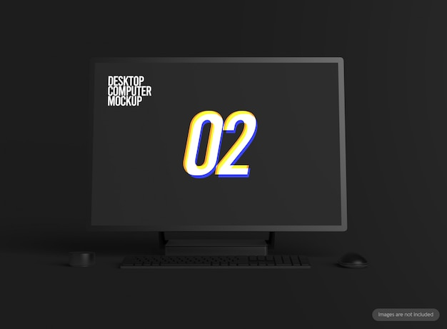 Maquete de computador desktop