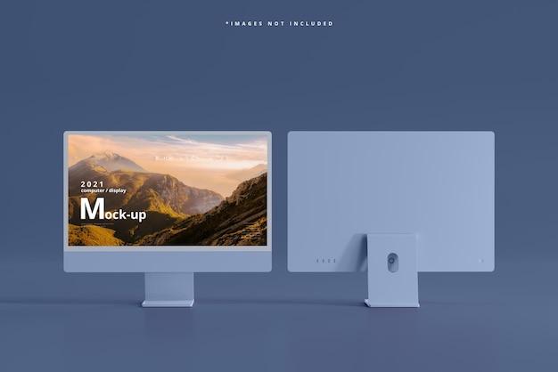Maquete de computadores desktop