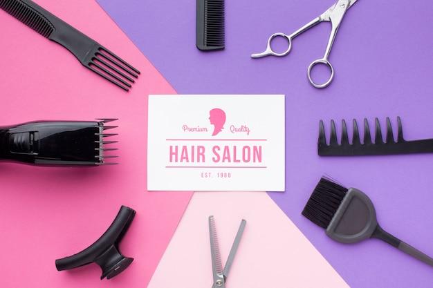 Maquete de conceito de cabeleireiro