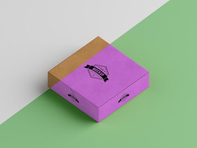 Maquete de conceito de caixa de embalagem Psd Premium