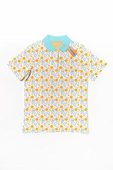 Maquete de conceito de camisa colorida