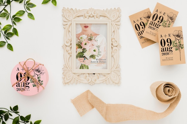 Maquete de conceito de casamento lindo