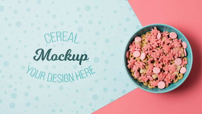 Maquete de conceito de cereal delicioso