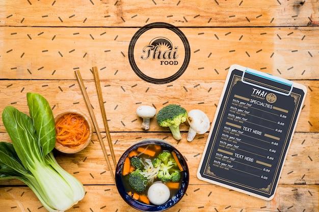 Maquete de conceito de comida tailandesa