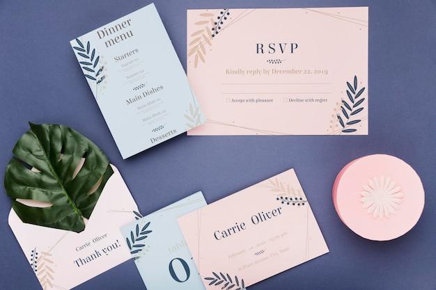 Maquete de conceito de convite de casamento