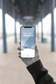 Maquete de conceito de dispositivo smartphone