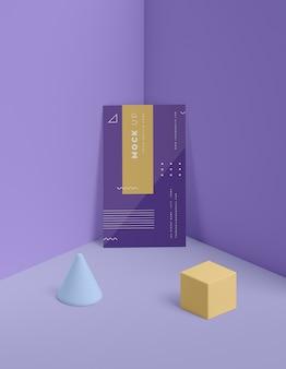 Maquete de conceito de formas geométricas