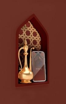 Maquete de conceito de formas islâmicas