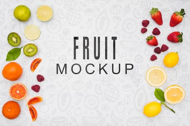 Maquete de conceito de fruta deliciosa