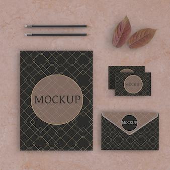 Maquete de conceito de marca elegante