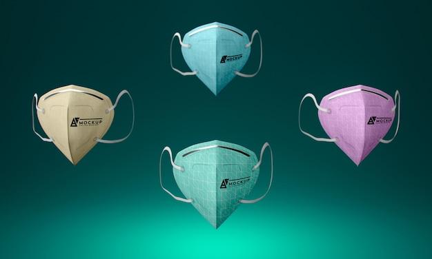Maquete de conceito de máscara facial