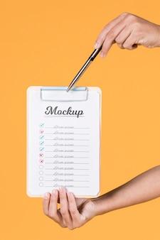 Maquete de conceito de notebook