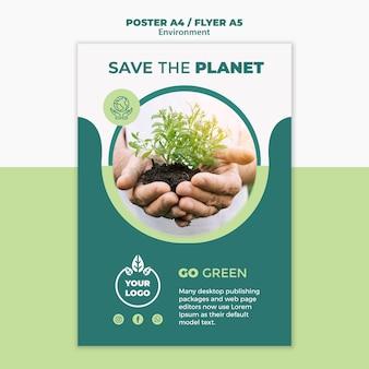 Maquete de conceito de panfleto de ambiente