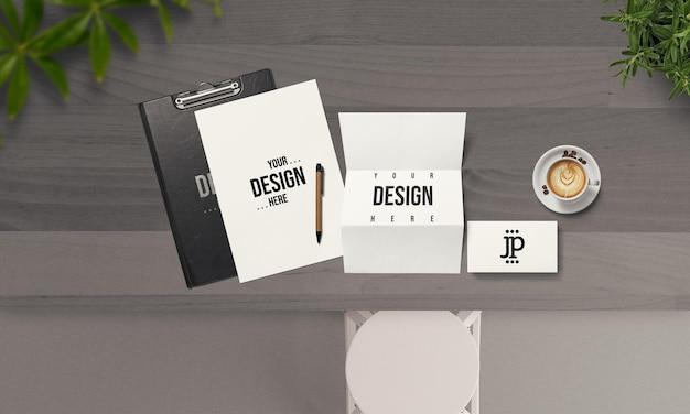 Maquete de conceito de papelaria simples