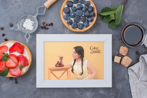 Maquete de conceito de sobremesa deliciosa