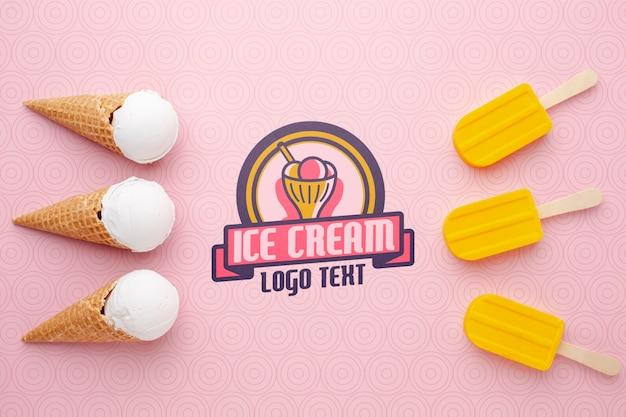 Maquete de conceito de sorvete