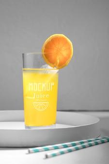 Maquete de conceito de suco detox delicioso