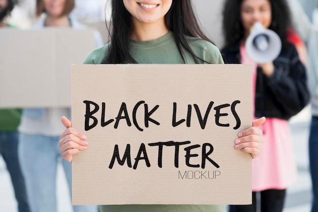 Maquete de conceito de vida negra