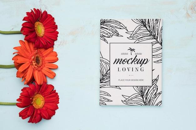 Maquete de conceito floral bonito