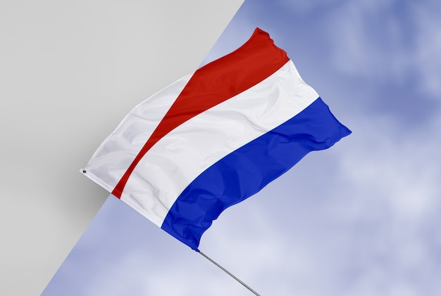 Maquete de conceito linda bandeira Psd grátis