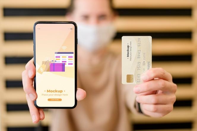 Maquete de conceito on-line de compras