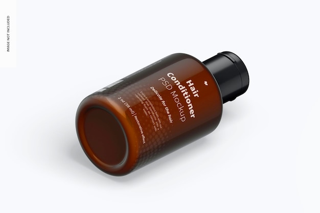 Maquete de condicionador de cabelo de 2 onças, vista esquerda isométrica