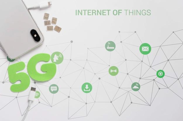 Maquete de conexão de rede wifi 5g